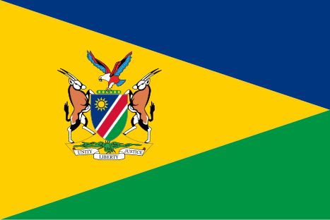 467px-Flag of the President of the Republic of Namibia.svg
